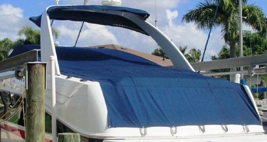 Baja 405-Performance-Arch, 2007: Bimini-Top Sunshade-Top Cockpit-Cover, port-rear