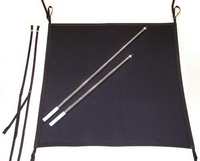 Boat-Shade-Kit Canvas, Telescoping Aluminum Support Poles and Straps (bag also included)