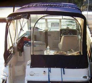 Chris-Craft Constellation-26, 2003: Camper-Top Camper-Side-and-Aft-Curtains,, rear
