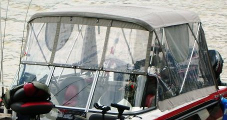 Ranger 211-Reata, 2010: Bimini-Top,, Front-Connector Side-and-Aft-Curtains, port-front