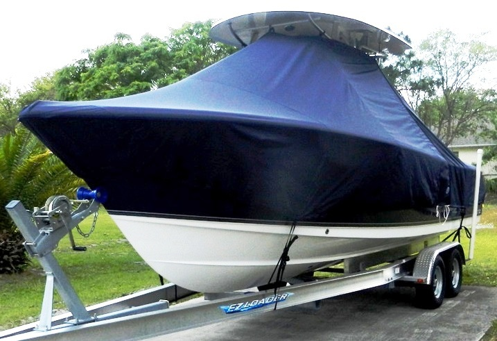 Sea Hunt® Gamefish-25, 2012: T-Top-Boat-Cover, port-front