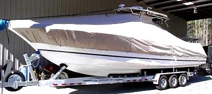 Wellcraft® Scarab-35T 20xx T-Top-Boat-Cover, port-front