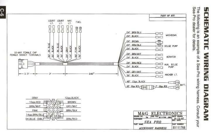 Sea Pro Wiring Schematic_1997aug13 yamaha boat stereo wiring harness yamaha wiring diagrams for diy Auto Meter Tach Wiring Diagram Wires at bayanpartner.co