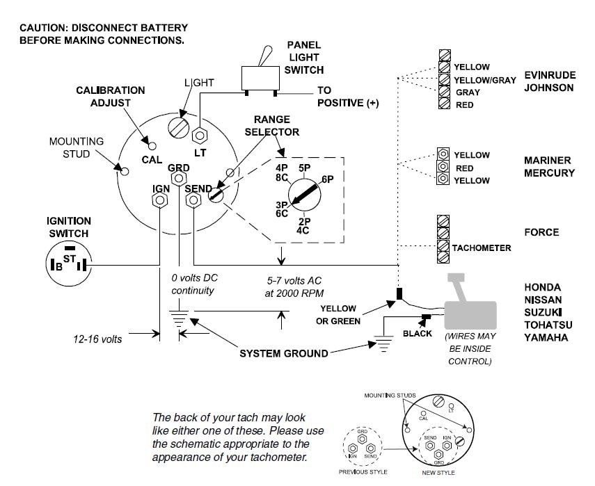 Teleflex Outboard Tachometer Selector Setup yamaha outboard tach wiring diagram readingrat net 5 tachometer wiring diagram at panicattacktreatment.co