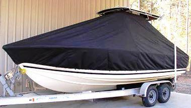 Albemarle 242CC, 20xx, TTopCovers™ T-Top boat cover, port front