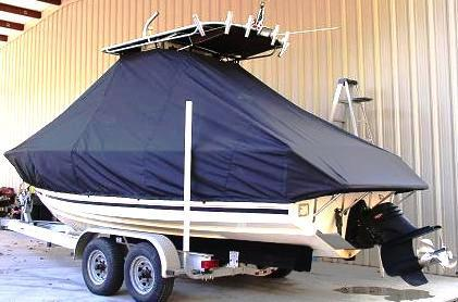Albemarle 242CC, 20xx, TTopCovers™ T-Top boat cover, port rear