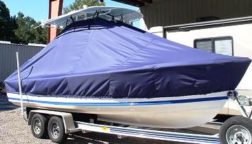 Albury Brother 23, 20xx, TTopCovers™ T-Top boat cover, starboard front