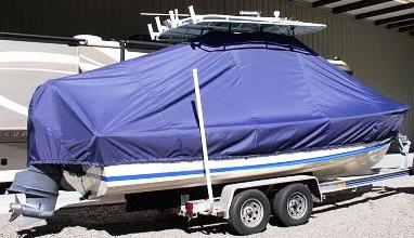 Albury Brother 23, 20xx, TTopCovers™ T-Top boat cover, starboard rear