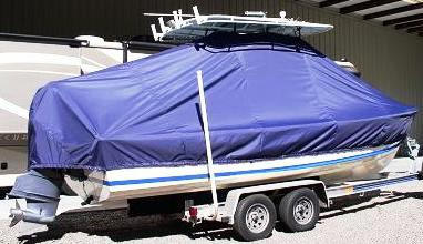 Albury Brothers 23, 20xx, TTopCovers™ T-Top boat cover, starboard rear
