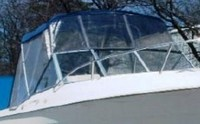 Photo of Aquasport 215 Dual Console, 1996: Bimini-Top, Bimini Connector, Side-Curtains, viewed from Starboard, Front