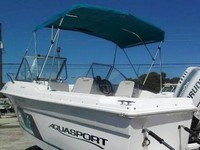 Photo of Aquasport 215 Dual Console, 1997: Bimini-Top, viewed from Port, Rear