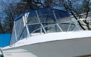 Aquasport 215-Osprey-Sport, 2004: Bimini-Top Bimini-Connector Side-Curtains, starboard-front