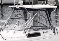 Photo of Aquasport 225 Explorer, 2004: Hard-Top, Front Connector, Side and Aft-Curtains, viewed from Port, Front