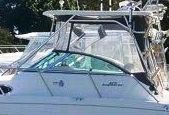 Aquasport 275-Explorer, 2003: Hard-Top,, Front-Connector Side-Curtains Aft-Drop-Curtains, port-side