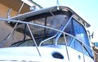 Aquasport 275-Explorer, 2004: Hard-Top,, Front-Connector Side-Curtains Aft-Drop-Curtains, port-front-2