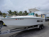 Baha Cruisers, 270 King Cat, 2000, Hard Top, Spray Shield, Side Curtains Aft Drop Curtain, rear