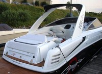 Photo of Baja 335 Performance Arch, 2008: Arch Sunshade Top, viewed from Starboard, Rear