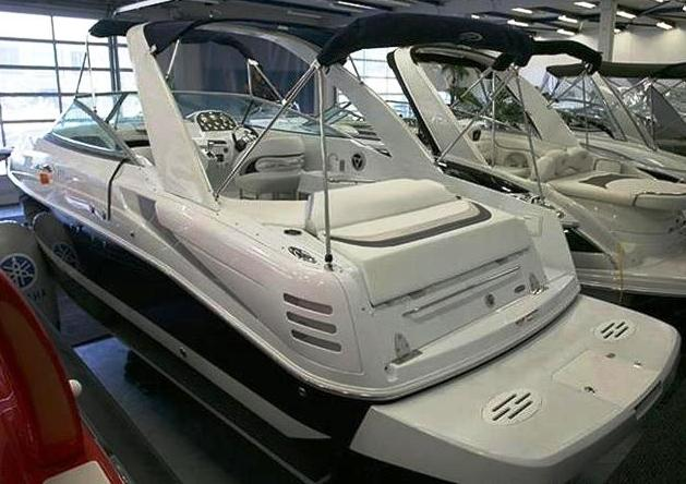 Baja 335-Performance-Arch, 2008: Bimini-Top-in-Boot Arch Sunshade-Top Camper-Top-in-Boot, port-rear