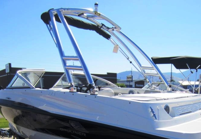 Bayliner 185BR, 2013: Tower-Bimini-Top-in-Boot Monster-Tower