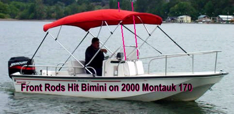 Front Rods Hit 2000 Boston Whaler Montauk-170 Bimini Top Picture
