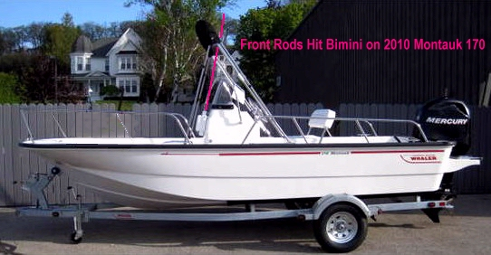 Front Rods Hit 2010 Boston Whaler Montauk-170 Bimini Top Picture