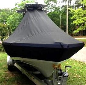 Blackjack 224, 20xx, TTopCovers™ T-Top boat cover bow