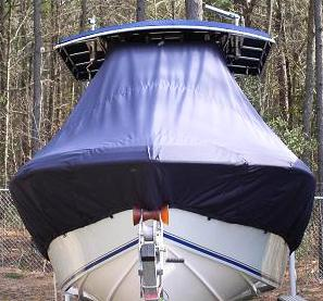 Bluewater 2350, 20xx, TTopCovers™ T-Top boat cover bow