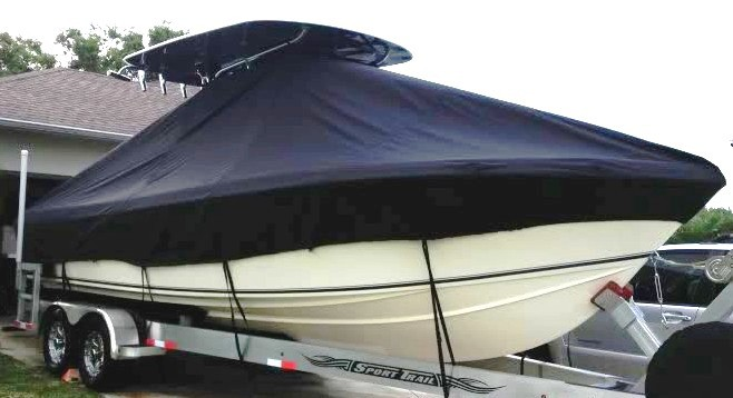 Bluewater 2550, 19xx, TTopCovers™ T-Top boat cover