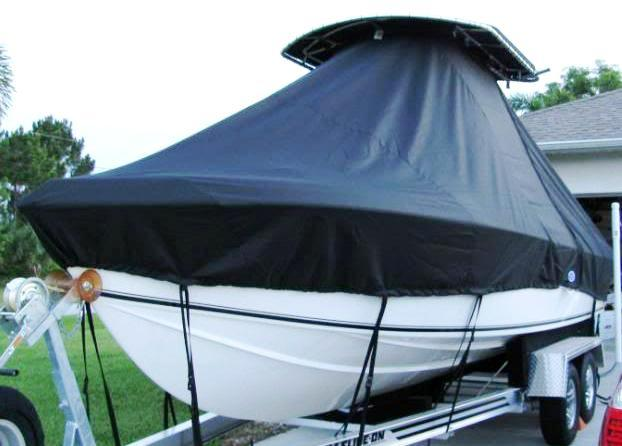 Bluewater 2550, 19xx, TTopCovers™ T-Top boat cover, port bow