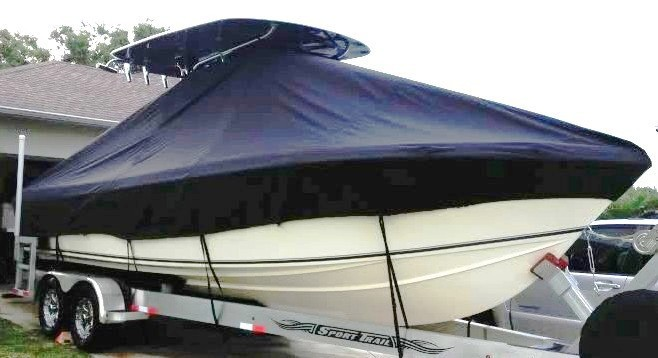Bluewater 2550, 19xx, TTopCovers™ T-Top boat cover, starboard bow
