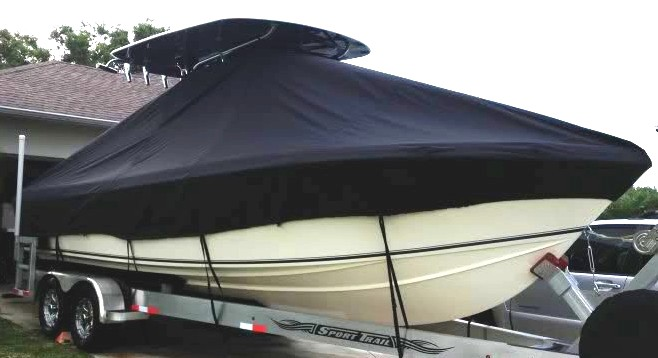 Bluewater 2550, 20xx, TTopCovers™ T-Top boat cover