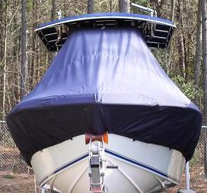 Bluewater 2550, 20xx, TTopCovers™ T-Top boat cover bow