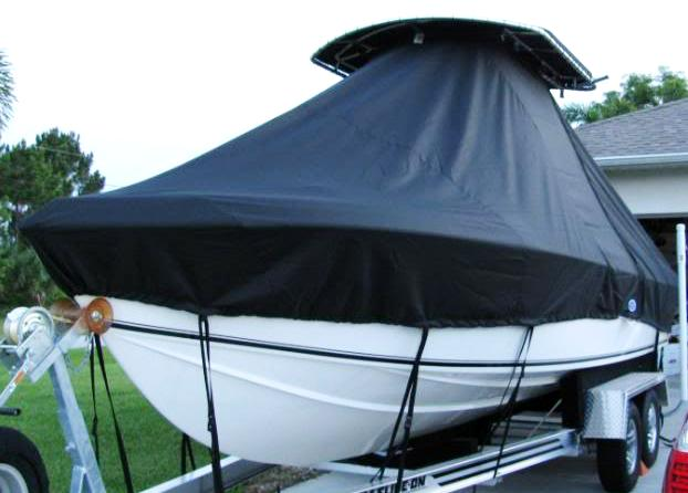 Bluewater 2550, 20xx, TTopCovers™ T-Top boat cover, port bow
