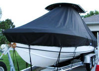 Photo of Bluewater 2550 20xx T-Top Boat-Cover, viewed from Port Bow