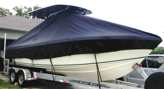 Bluewater 2550, 20xx, TTopCovers™ T-Top boat cover, starboard bow
