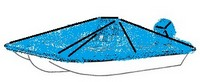 Boat-Cover-CSF-Model™Carver(r) 710xx series Styled-To Fit(tm) boat cover (for Bay style Center Console (up to 56 inch) fishing boat (shallow draft hull); O/B) provides a GUARANTEED Fit