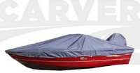 Boat-Cover-CSF-Model™Carver(r) 723xx series Styled-To Fit(tm) boat cover (for Wide Aluminum V-hull Fishing boat with Walk-Thru Windshield (up to 24 nch); O/B outboard) provides a GUARANTEED Fit