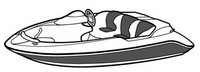 Boat-Cover-CSF-Model™Carver(r) 743xx series Styled-To Fit(tm) boat cover (for Performance Style boat (p/n 7432xx thru 7433x), I/O or Jet boat (7431x)) provides a GUARANTEED Fit