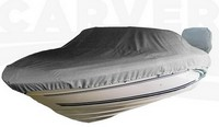 Boat-Cover-CSF-Model™Carver(r) 770xx series Styled-To Fit(tm) boat cover (for V-hull Runabout O/B boat (including Euro-style) with Windshield and Hand or Bow Rails (height: 14-16ft=4-inch, 16-20ft=8-inch, 20ft+=12-inch); outboard) provides a GUARANTEED Fit