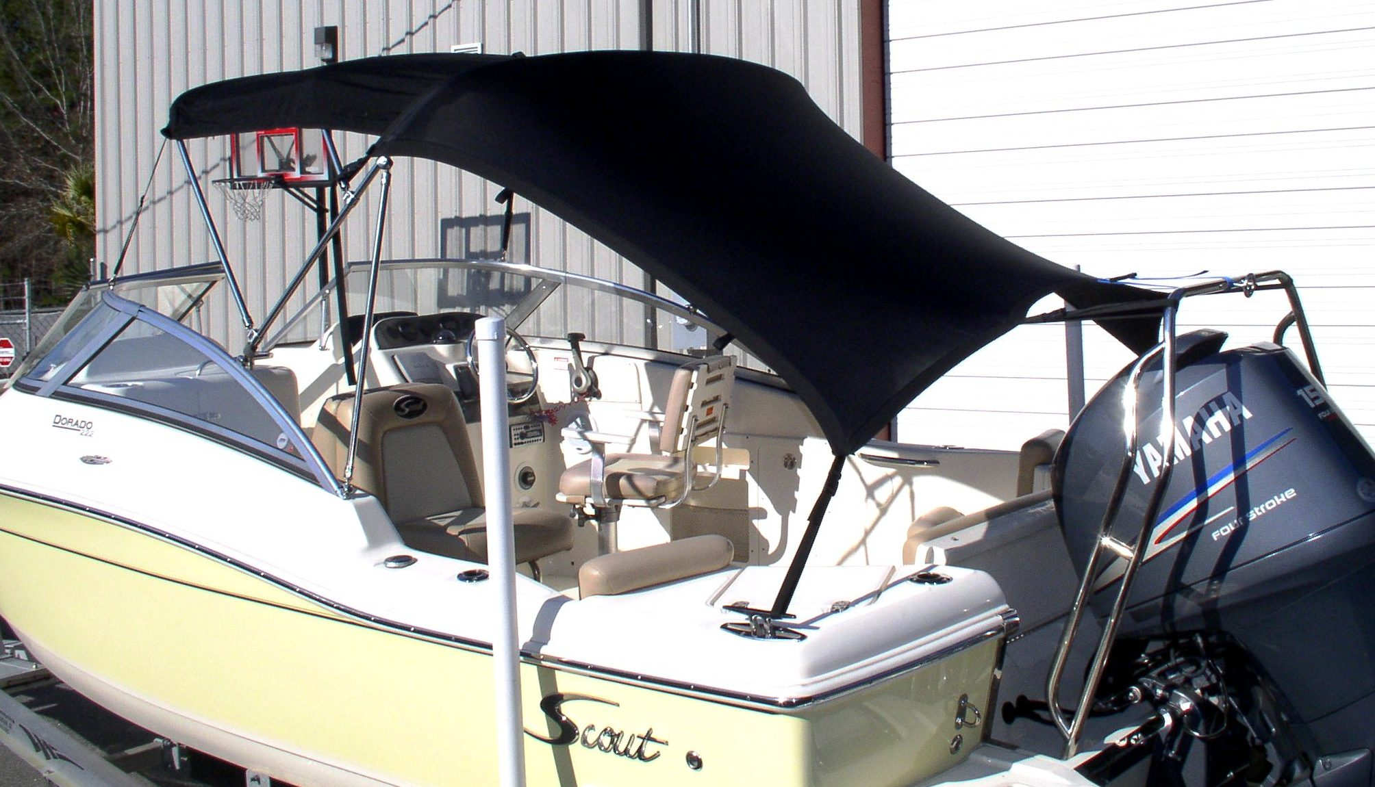 Boat Shade Kit Bimini Slant Back