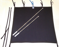 Shade-Kit Canvas, Aluminum Support Poles and Straps (bag included)