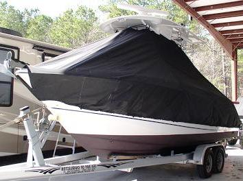 Boston Whaler 25 Outrage, 20xx, TTopCovers™ T-Top boat cover 524 front