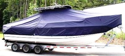 Boston Whaler 26 Outrage, 20xx, TTopCovers™ T-Top boat cover side