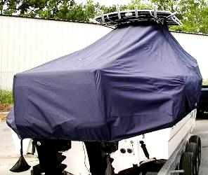 Boston Whaler 260 Outrage, 2006, TTopCovers™ T-Top boat cover rear