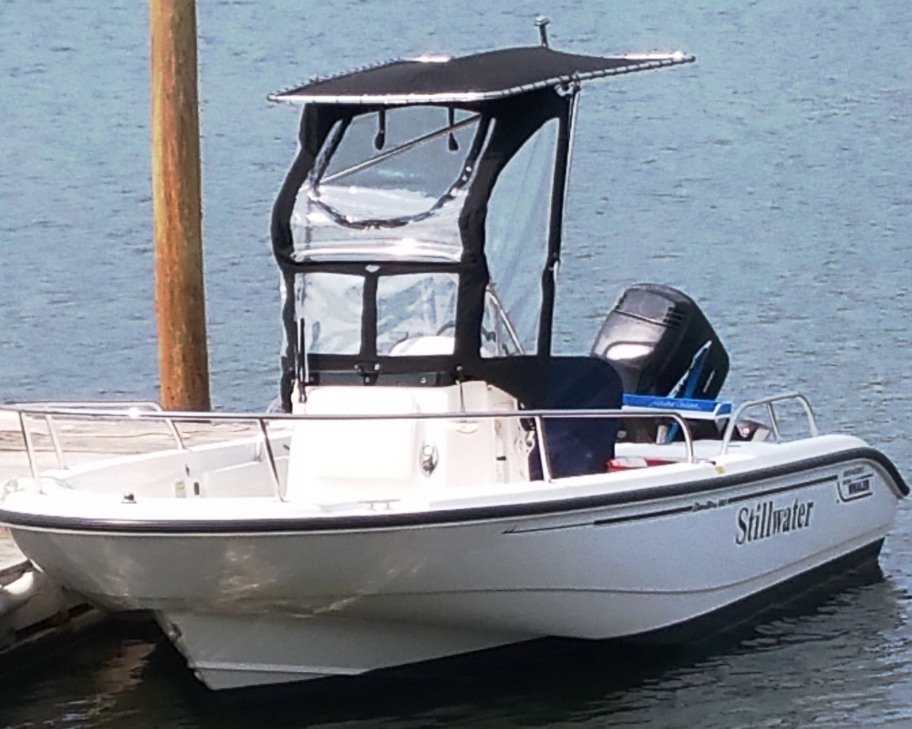 Boston Whaler Dauntless 180, 2003, Montauk-T-Topless™ and Spray Shield, port front