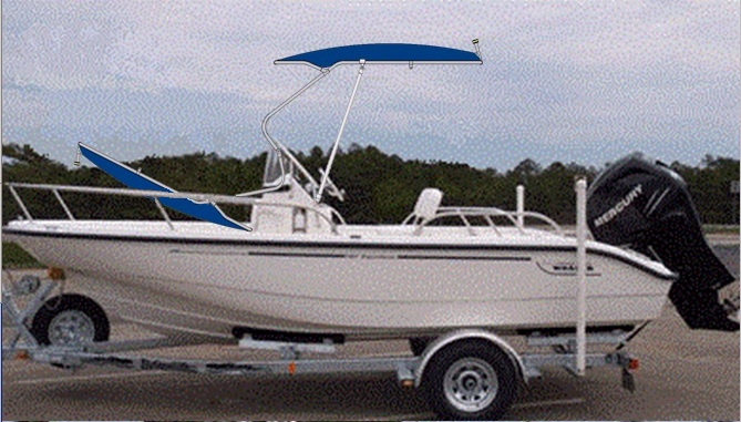 Boston Whaler Dauntless 180, 2007, Montauk-T-Topless™ superimposed
