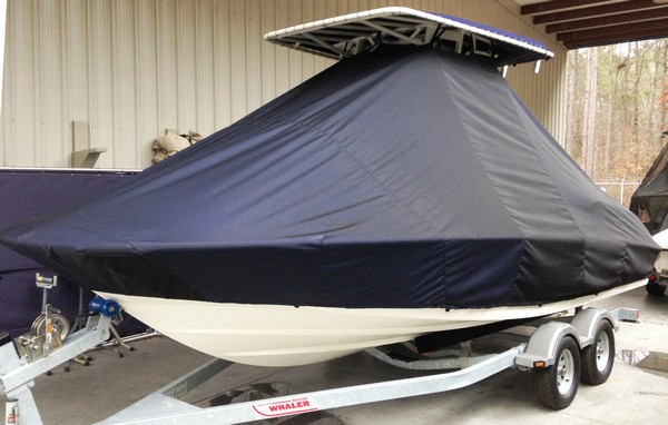Boston Whaler Dauntless 210, 20xx, TTopCovers™ T-Top boat cover, port front