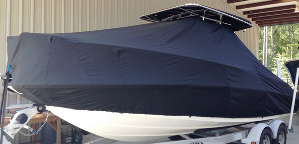 Boston Whaler Dauntless 230, 20xx, TTopCovers™ T-Top boat cover, port front