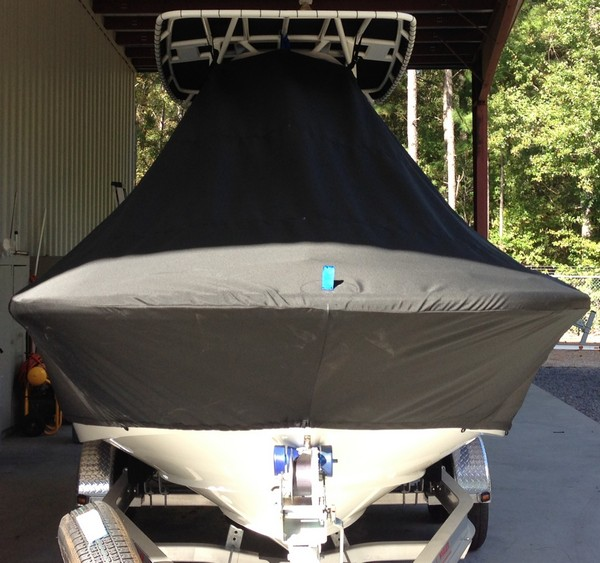 Boston Whaler Dauntless 240, 20xx, TTopCovers™ T-Top boat cover front