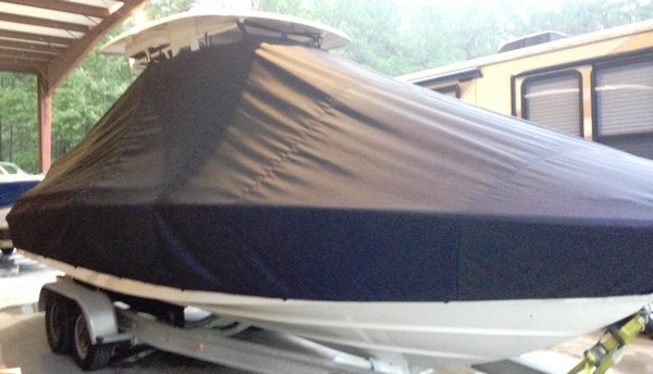 Boston Whaler Dauntless 270, 20xx, TTopCovers™ T-Top boat cover, starboard front